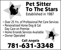 Marblehead Pet Sitting Pet Sitter to the stars